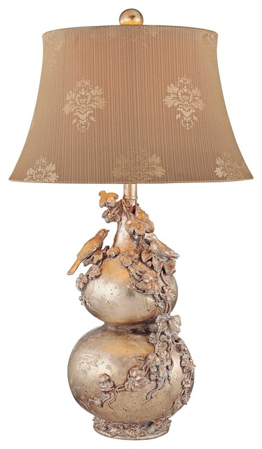 Asian Jessica McClintock Romance Birds Nest Embroidery Table Lamp traditional-table-lamps