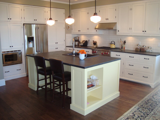 vintage style kitchen kitchen islands and kitchen carts waterfall kitchen island houzz