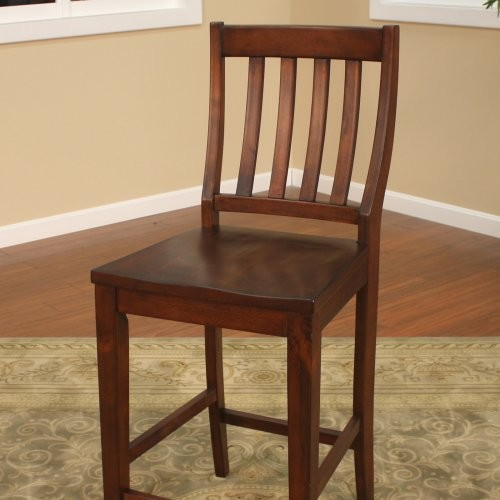 AHB Hyden Vertical Slat Back Counter Height Dining Chairs Set Of 2 Contem