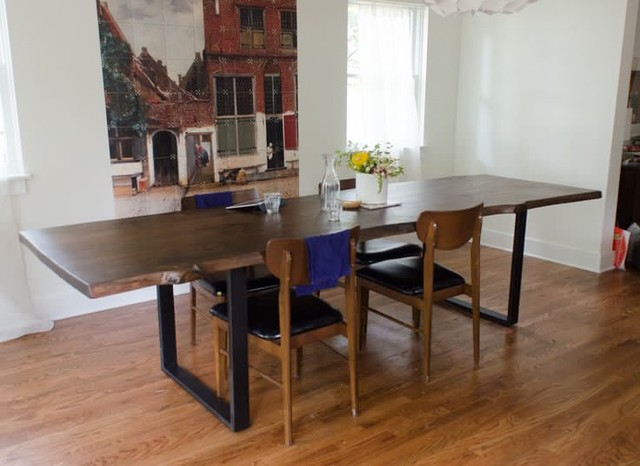 Live Edge Farm Tables Modern Dining Tables Providence By Lorimer Workshop