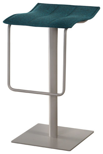 Trica Acqua Swivel Bar Stool Backless Contemporary