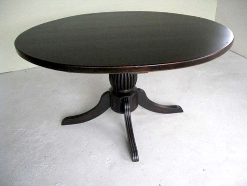 Black Pedestal Table Made From Reclaimed Wood Farmhouse Dining Tables