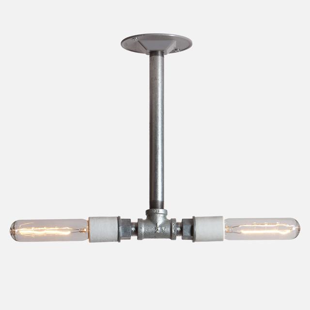 Industrial Light - Double Pendant Pipe Lamp modern-pendant-lighting