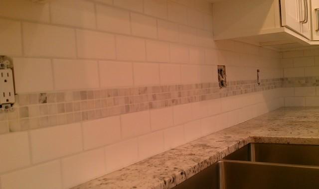 Subway tile accents
