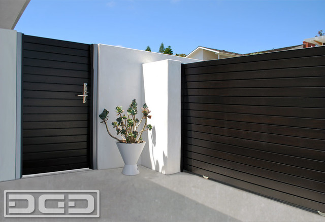 Modern Wood Entry Gates And Contemporary Rolling By