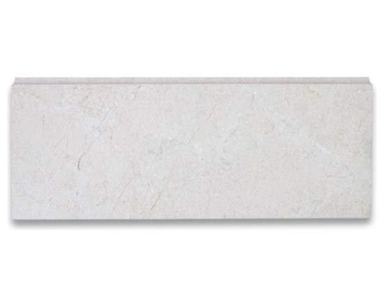 "Stone Center Corp - Spanish Crema Marfil Marble Baseboard Trim Molding 5x12 Polished - Crema Marfil Marble baseboard molding 5"" width x 12"" length x 3/4"" thickness; Polished finish"
