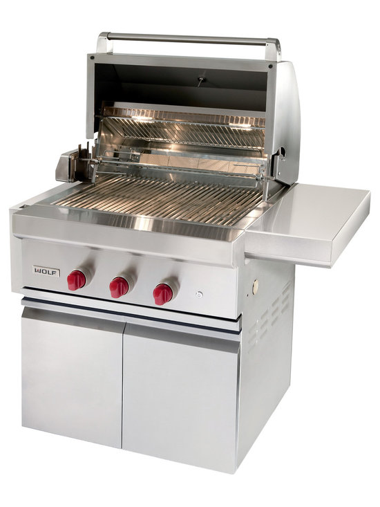 "Wolf 30"" Built-in Gas Grill, Classic Stainless Natural Gas 