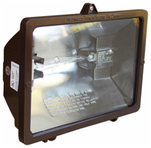 300 Watt Quartz Floodlight, 120V, Bronze modern-outdoor-lighting