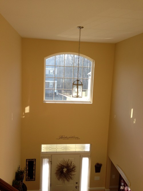 Two Story Foyer Window Treatment : Need help with second story arched foyer window