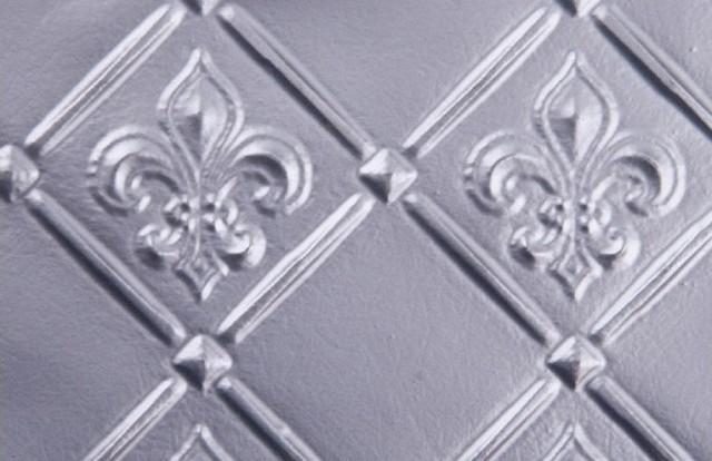 wc 80 faux tin backsplash roll fleur de lis 3 pattern silver