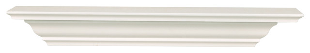 Corona Crown Molding Wall Shelf, 24-Inch, White contemporary-display-and-wall-shelves