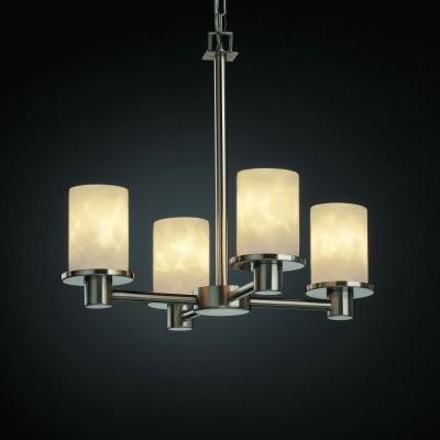 Justice Design Group Clouds CLD-8510-10-NCKL Rondo 4-Light Chandelier - Nickel modern-chandeliers