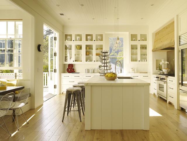 Central island & breakfast nook contemporary-kitchen