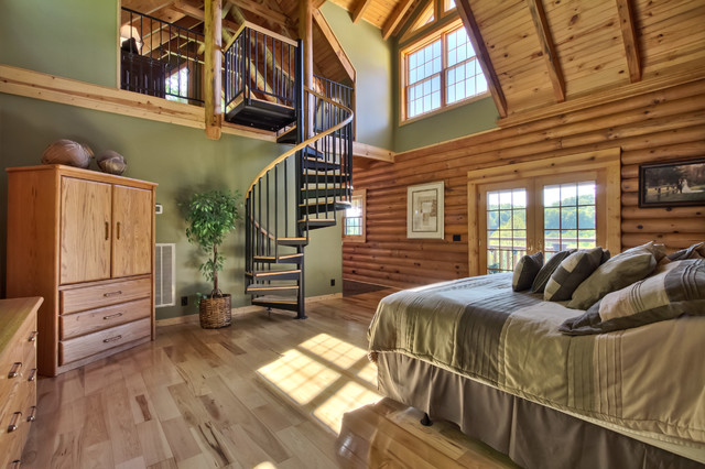 Two story Log Cabin Master Suite Rustic Nashville By