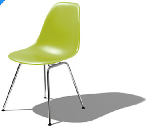 Eames Molded Plastic Side Chair With 4 Leg Base By Herman Miller Office Cha