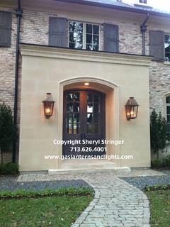 Front Door Gas Lanterns By Sheryl Stringer Www
