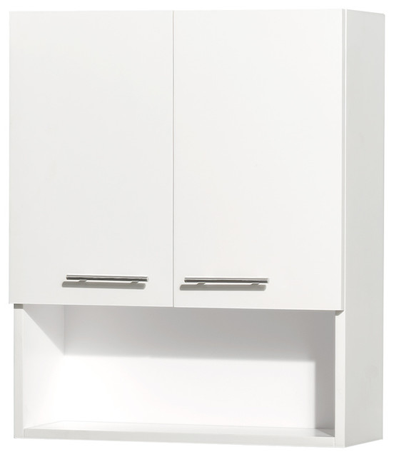 Centra Wall Mounted Bathroom Storage Cabinet In White Two