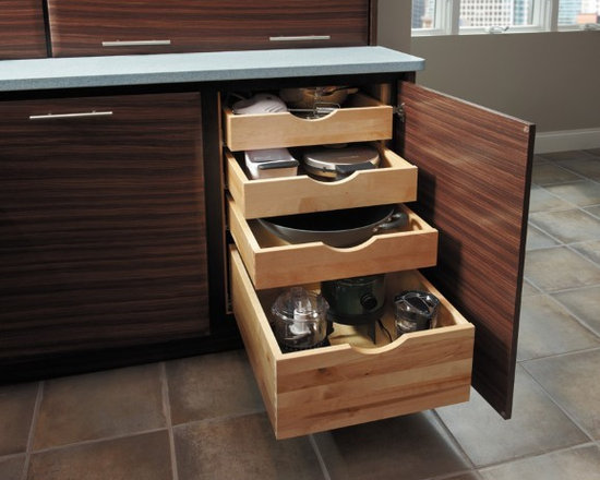 Getting Organized with Fieldstone Cabinetry - Full Slide, Solid Wood, Storage drawers