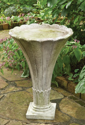 Tall Fluted Birdbath traditional-bird-baths