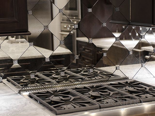 Private Residence Antique Mirror Backsplash Tiles