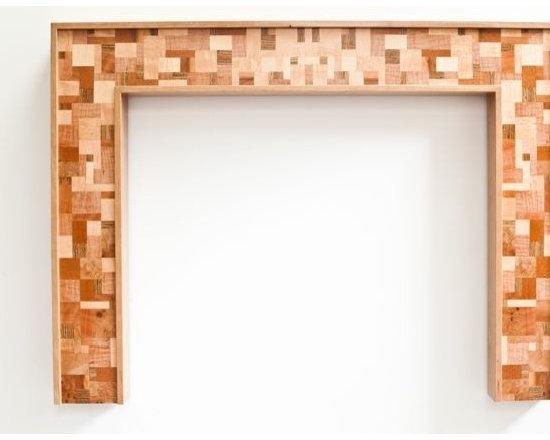 "Black Cherry Fireplace Mantel ""Mosaic"" design series -"