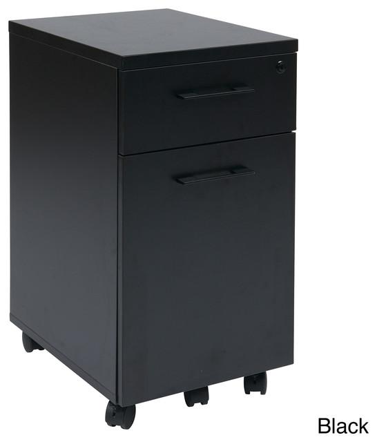 Prado Mobile Laminate File Cabinet with Metal Drawer Pulls ...