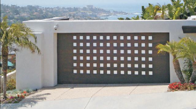 Impact garages wood doors modern garage doors and for Garage door opener miami fl