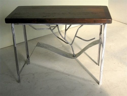 Rustic Modern Sofa Table With Metal Legs Rustic Side Tables And End Tables Boston By