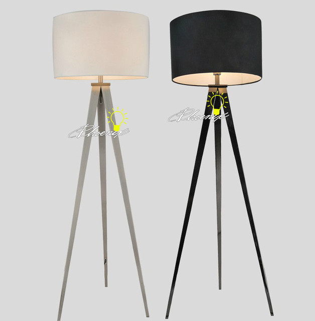 black and white tripod flax shape floor lamp contemporary floor lamps. Black Bedroom Furniture Sets. Home Design Ideas