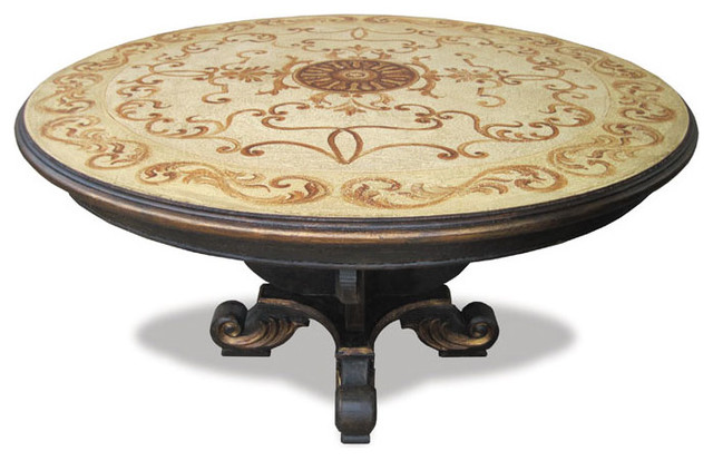 bloomsfield round table black baroque with cream