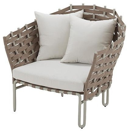 Source Outdoor Lounge Chair with Cushions, Patio Furniture traditional-outdoor-chaise-lounges
