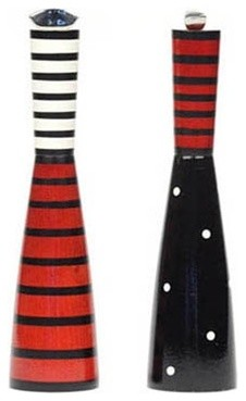 William Bounds Pep Art Salt & Pepper Grinders, Red modern serveware