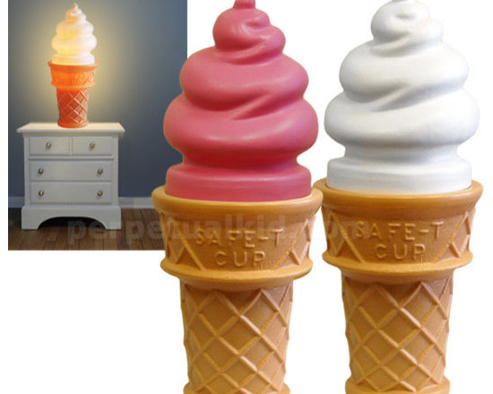 Giant Ice Cream Cone Lamp -