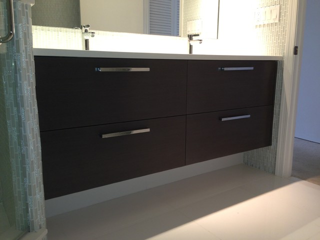 Master bath modern bathroom vanities and sink consoles for Bathroom cabinets modern