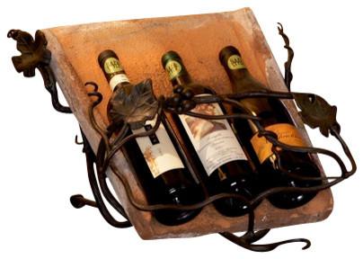 Antique Tile Wine Easel traditional-wine-racks