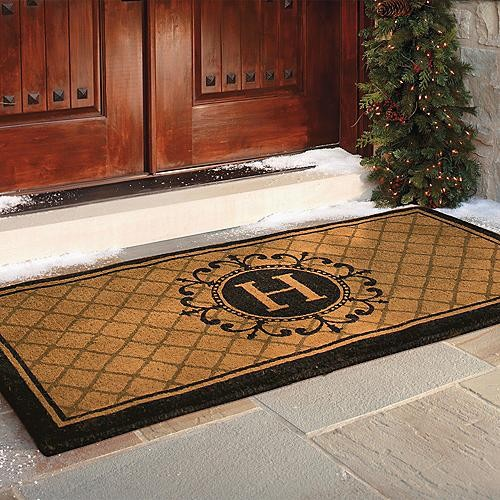 Ascot Coco Entry Mat - Frontgate traditional doormats