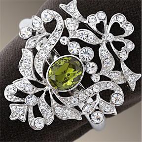 L'Objet Crest Platinum Swarovski Napkins Rings traditional-napkin-rings