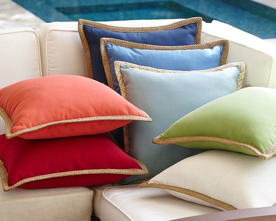 Synthetic Trim Indoor-Outdoor Pillow -
