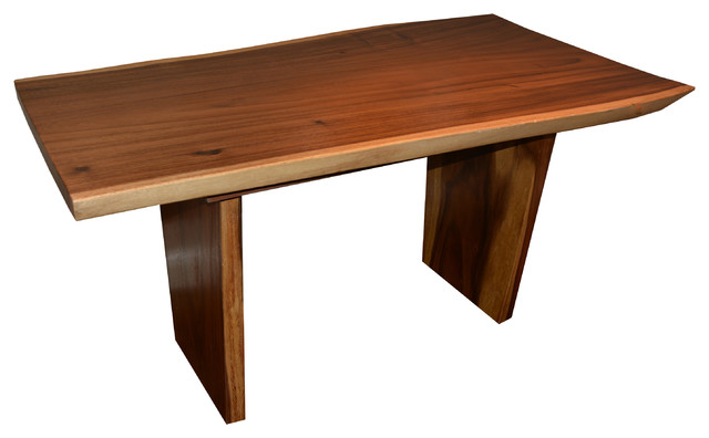 9 1886 Live Edge Suar Wood Dining Table 60 X 28 32 Rust