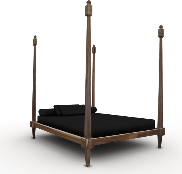 Fiorenza Four Post Bed Eclectic Beds New York By