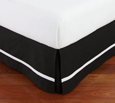 Black And White Striped Bed Skirt 71