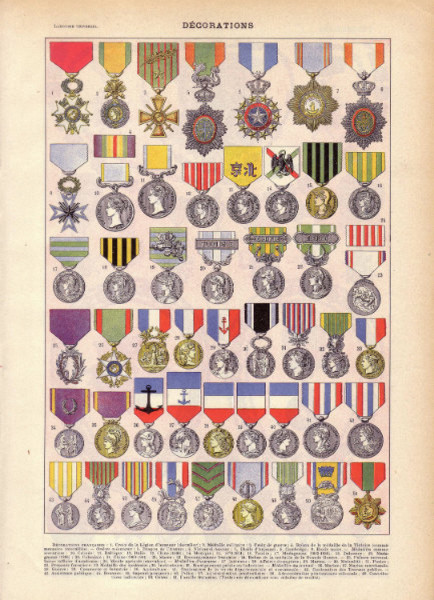 Antique Military Print, 'Decorations' by Miss Quite Contrary eclectic-artwork
