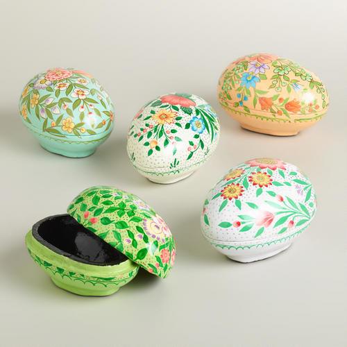 Muzafar Egg Boxes, Set of 5 contemporary-holiday-decorations