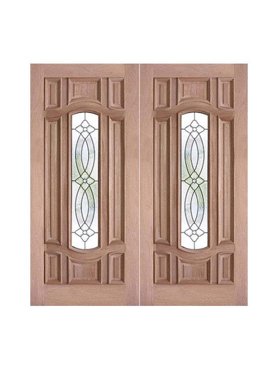 """Decorative Center Arch Lite, Prehung Mahogany Double Front Door, 72x80 - SKU#PL-73_2BrandAAWDoor TypeExteriorManufacturer CollectionBudget DoorsDoor ModelDoor MaterialWoodgrainVeneerPrice1740Door Size Options2(36"""") x 80"""" (6'-0"""" x 6'-8"""")  $0Core TypeDoor StyleDoor Lite StyleCenter Arch LiteDoor Panel Style8 Panel , Raised MouldingHome Style MatchingBay and Gable , Bungalow , Elizabethan , Plantation , VictorianDoor ConstructionEngineered Stiles and RailsPrehanging OptionsPrehungPrehung ConfigurationDouble DoorDoor Thickness (Inches)1.75Glass Thickness (Inches)3/4Glass TypeTriple GlazedGlass CamingBlackGlass FeaturesTempered , InsulatedGlass StyleGlass TextureGlass ObscurityDoor FeaturesDoor ApprovalsDoor FinishesDoor AccessoriesWeight (lbs)850Crating Size25"""" (w)x 108"""" (l)x 52"""" (h)Lead TimeSlab Doors: 7 daysPrehung:14 daysPrefinished, PreHung:21 daysWarranty"""