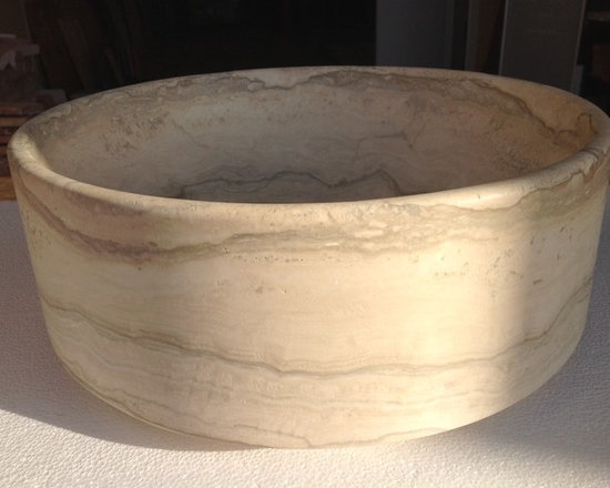 Custom Travertine Sink - See more about this custom sink and how it was made: