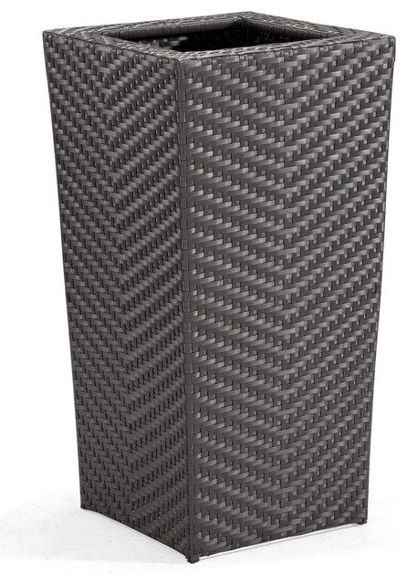 Zuo Cancun Planter Tall in Espresso modern-indoor-pots-and-planters