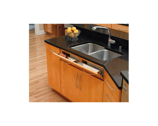 Cabinet Accessories - stainless steel tilt out trays with stainless steel spring hinges