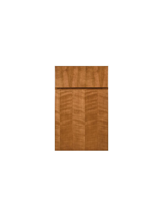 Cherry Door Styles from Wellborn Cabinet, Inc. - Full Overlay Milan Cherry featured here with Vertical Drawer Front Option.