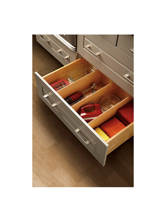 Deep Drawer Divider - Store small appliances, linens, cooking utensils and more in one drawer with these handy dividers.