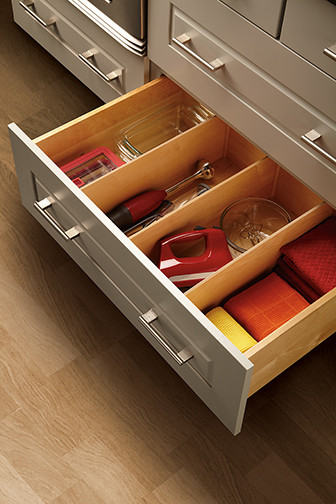 Deep Drawer Divider - Kitchen Drawer Organizers - minneapolis - by Mid Continent Cabinetry